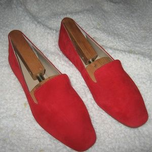 Enzo Angiolini Womens Loafers - Suede Red 8.5 M